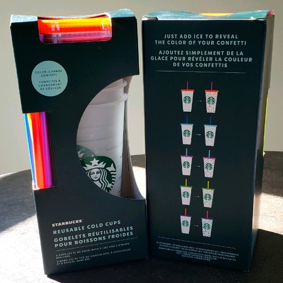 TWO boxes of Starbucks Color Changing Confetti